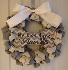 Pet Themed Wreath by AddictedToDecor54 on Etsy, $50.00