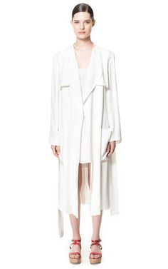 LONG FLOWING TRENCH COAT - Coats - Woman - ZARA United States