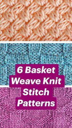 Knit Purl Stitches, Easy Crochet Stitches, Crochet Stitches For Beginners, Knitting Basics, Knitting Stiches, Different Crochet Stitches, Knitting For Beginners, Baby Knitting Patterns, Knitted Dishcloth Patterns Free
