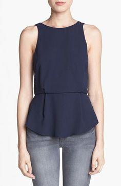 ASTR Zipper Back Peplum Tank available at #Nordstrom --in Wine