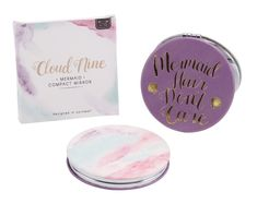 mermaid compact mirror, mermaid hair don& care. Stocking Fillers, Compact Mirror, Mermaid Hair, Retail Packaging, Unicorns, Mermaids, Don't Care, Conditioner, Container