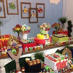 Festa Angry Birds super bacana e divertida por @valeriacalazans  #kikidsparty