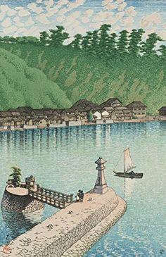 "Japanese Art Print ""Mihogaseki Izumo (Izumo Mihogaseki)"" from the Series ""Souvenirs of Travels (3rd Series)"" by Kawase Hasui. Shin Hanga and Art Reproductions http://www.amazon.com/dp/B00YSKCX1M/ref=cm_sw_r_pi_dp_SERvwb0NG2D4T"
