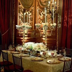 Tablescape ● Gold Opulence