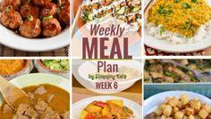 Slimming Eats Weekly Meal Plan - Week 6