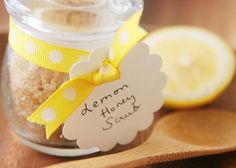 Lemon Honey Body Scrub #treat