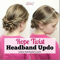 Rope Twist Headband Updo Tutorial - Fast and easy, works great of different lengths of hair. Read how to do this cute, lady like look!
