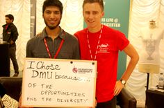 DSU President Adil Waraich and Vice President Media and Communications Adam Redfern tell us why they chose De Montfort University Leicester.