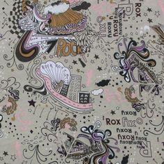 Roxy City Fantasy Cotton Jersey Knit Fabric