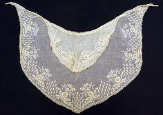 1835-45 Cotton Lace cape  -  MET