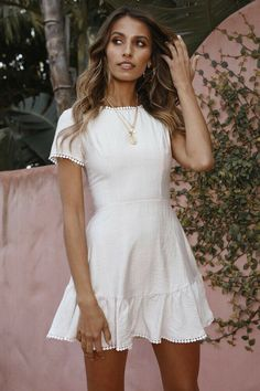 Fashion Trends Jewelry dress up game Summer Clothes for the Break Night Outfits, Summer Outfits, Fashion Outfits, Summer Dresses, White Outfits, Summer Clothes, Fashion Trends, Grad Dresses, Casual Dresses