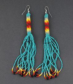 navajo native native american ndn indigenous beadwork earrings
