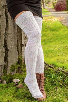 Confetti Sock Dream thigh high socks pair with tight long sleeve dress Sexy Socks, Cute Socks, Socks Men, Casual Skirt Outfits, Cute Outfits, Tight Long Sleeve Dress, Dress Long, Tight Thighs, Thigh High Socks
