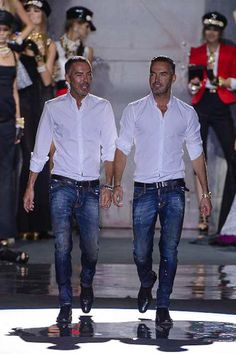 Fashion designers Dean and Dan Caten