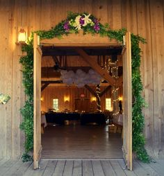 Entryway Floral Garland  by Fleur de Vie for  Hill Country rustic chic wedding. Photography by Anthology.
