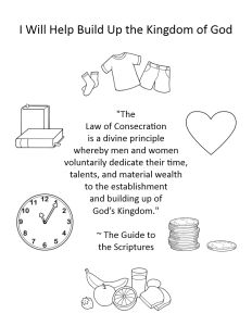 Primary 2: Lesson 33 ~ The Laws of Tithing and Consecration ~ From Butterfly Impressions <3