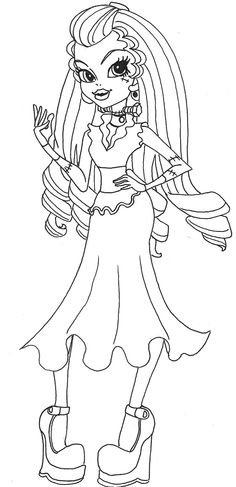 Monster High Frankie Stein Wears Dresses Coloring Pages