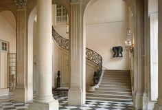 The interior of Hôtel Biron | Musée Rodin | Paris | It was built in the Rue de Varenne, Paris, between 1727 and 1737 but was first open to the public in 1919. It houses over 300 artworks of famous French sculptor Auguste Rodin.