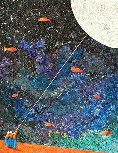 "Albin Talik ""In flagranti II"" 130X100cm paper and glue on canvas."