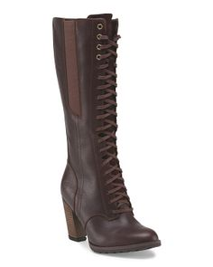 Leather High Shaft Boot