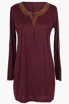 Cupshe Going Out Wine Casual Long Top
