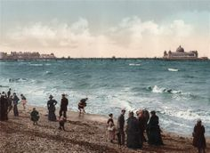 ORIGINAL MOUNTED PHOTOCHROME MORECAMBE WEST END PIER 1890s - NOT REPRODUCTION   eBay