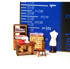 1/144th Scale Dollhouse Miniature Sewing & Crafts Furniture Set So Tiny Detailed #PenelopesWorkshop