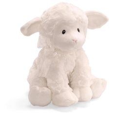 """$24.71-$25.00 Baby Gund Baby Lena Lamb Musical Toy, Brahms Lullaby - An irresistibly soft little lamb whose fleece is, can we just say, as white as snow! This sweet little lamb has a soothing sound and a comforting texture. She gently sways her head as she plays the """"Cradle Song, (Brahms' Lullaby)"""" when wound. Sits sweetly in the center of an Easter basket or baby gift basket. Size: 10""""H. Machin ..."""