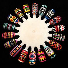 Tribal nail wheel by theillustratednail