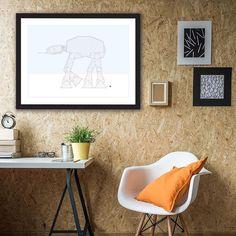 The walker - Hoth Version studio #atat #imperialwalker #starwars #mickallan #maze #poster #artwork http://ift.tt/213pw76