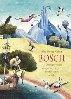 Bosch  Een prentenboek zonder woorden, waarin de magische wereld van Jheronimus Bosch het toneel wordt van een spannend avontuur.  Volg de pet, de rugzak en de bal…  Ontdek het verhaal zelf in de meesterlijke illustraties van Thé Tjong-Khing.