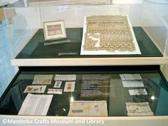 Samplers from the collection. ©Manitoba Crafts Museum and Library Craft Museum, Museum Collection, Needle And Thread, Create Your Own, Tapestry, Frame, Crafts, Hanging Tapestry, Picture Frame