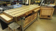 Lean Workbench Storage - Kinda..... - by JL7 @ LumberJocks.com ~ woodworking community