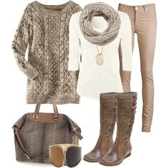 Neutral fall look...could not be more appropriate for me
