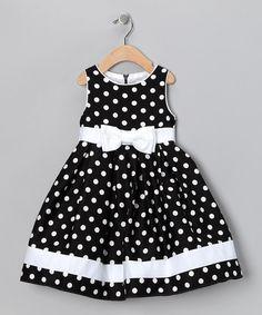 Black & White Dotty Dress - Toddler | zulily