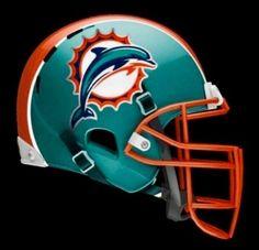 Cool Football Helmets, Nfl Football Teams, Football Uniforms, Mlb Teams, Football Stuff, Sports Teams, World Football League, Miami Dolphins Logo, Dolphins Cheerleaders