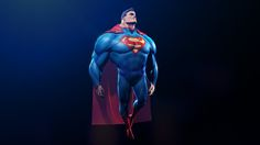 Superman, Patrick CN Wong on ArtStation at https://www.artstation.com/artwork/superman-283cf863-5594-4b97-b196-4ce6afb6ac4e