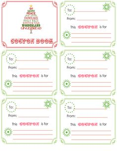 printable Christmas coupon book.  L is getting 15 minute added to bedtime coupon.