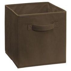 Superbe ClosetMaid Cubeicals 11 In. H X 10.5 In. W X 10.5 In. D Fabric Storage Bin  In Canteen