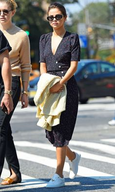 80fd144b6322 Selena Gomez Wore the French-Girl Dress That Always Sells Out via   WhoWhatWear Jeanne