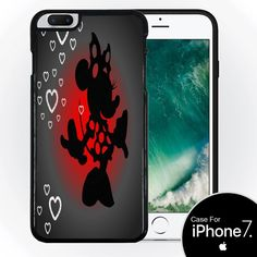 Cute Mouse Silhouette Hearts Design Print Image Black Silicone Case for iPhone 7+ (5.5) by Trendy Accessories available at https://www.amazon.com/dp/B01M16F9P4 #vinyldecals #decals #mobilecasing #mobiledecals #apple #iphone7 #ip7 #appledecals #ip7decals #iphone7decals #disney #minnie #tadesigns