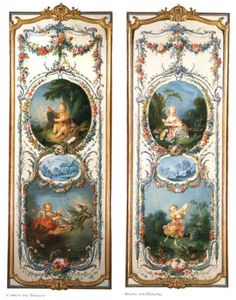 The Arts and Sciences (eight panels), ooc, 1750-52 (Rococo)Francois Boucher Comedy and Tragedy; Singing and Dancing
