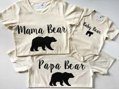 Rodinné tričká :-D → Mama medvedica, Oco medveď, Medvedík (urban baby co. Baby Co, Baby Baby, Baby Girls, Mama Bear Shirt, Daddy Bear, Kool Kids, Woodland Baby, Baby Boy Outfits, Family Outfits