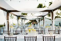 #tablescapes, #tropical  Photography: Christie Pham Photography - christie-photography.com Event Coordination: Nichole Weddings & Events, LLC - nicholeweddings.com Floral Design: Yvonne Design - yvonnedesign.com  Read More: http://www.stylemepretty.com/2013/05/29/lanai-wedding-from-nichole-weddings-events-christie-pham-photography-yvonne-design/