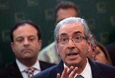 O presidente da Câmara, Eduardo Cunha (PMDB-RJ), anuncia seu rompimento com o governo Dilma