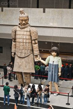 Marionettes created for the 2008 Olympic Games in China