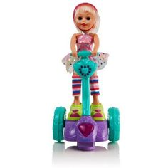 Dimple Fun Girl Figurine on a Motorized Wheeled Segway with Flashing Lights and Music by Dimple