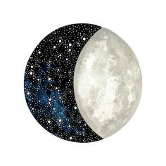 Moon and Stars 5 - Original Contemporary 8x10 Watercolor Painting - Constellation Art, Astronomy - by Natasha Newton