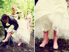 wellies & brides--reminds me of you!