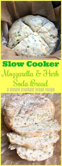 How to make slow cooker mozzarella and herb soda bread – a simple crockpot bread recipe Loading. How to make slow cooker mozzarella and herb soda bread – a simple crockpot bread recipe Slow Cooking, Slow Cooked Meals, Cooking Recipes, Italian Cooking, Oven Recipes, Easy Cooking, Easy Recipes, Chicken Recipes, Dinner Recipes
